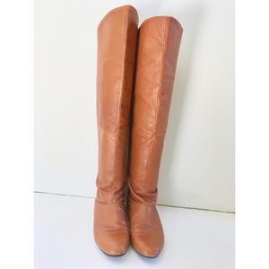 Chinese Laundry Cognac Leather Riding Boots